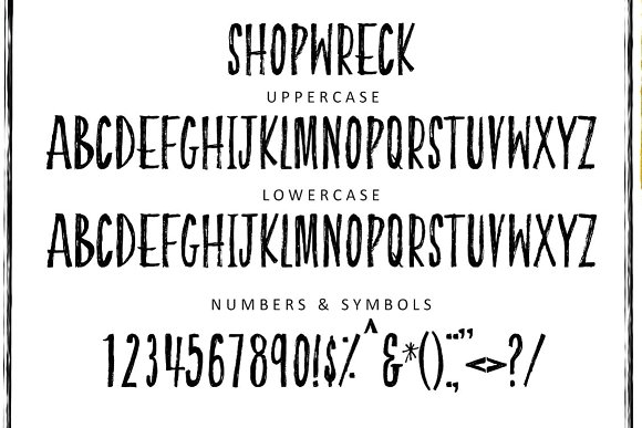 Print on Demand: Shopwreck Display Font By Creativeqube Design - Image 1