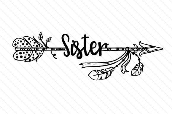 Sister Boho Craft Cut File By Creative Fabrica Crafts - Image 2