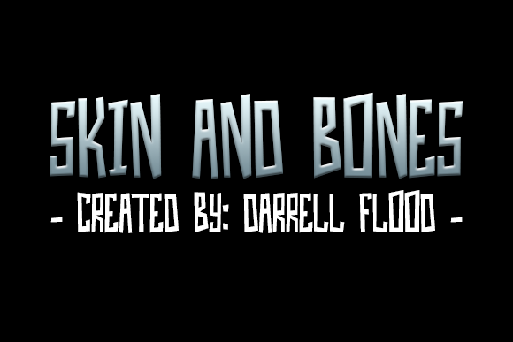 Skin and Bones Decorative Font By Dadiomouse