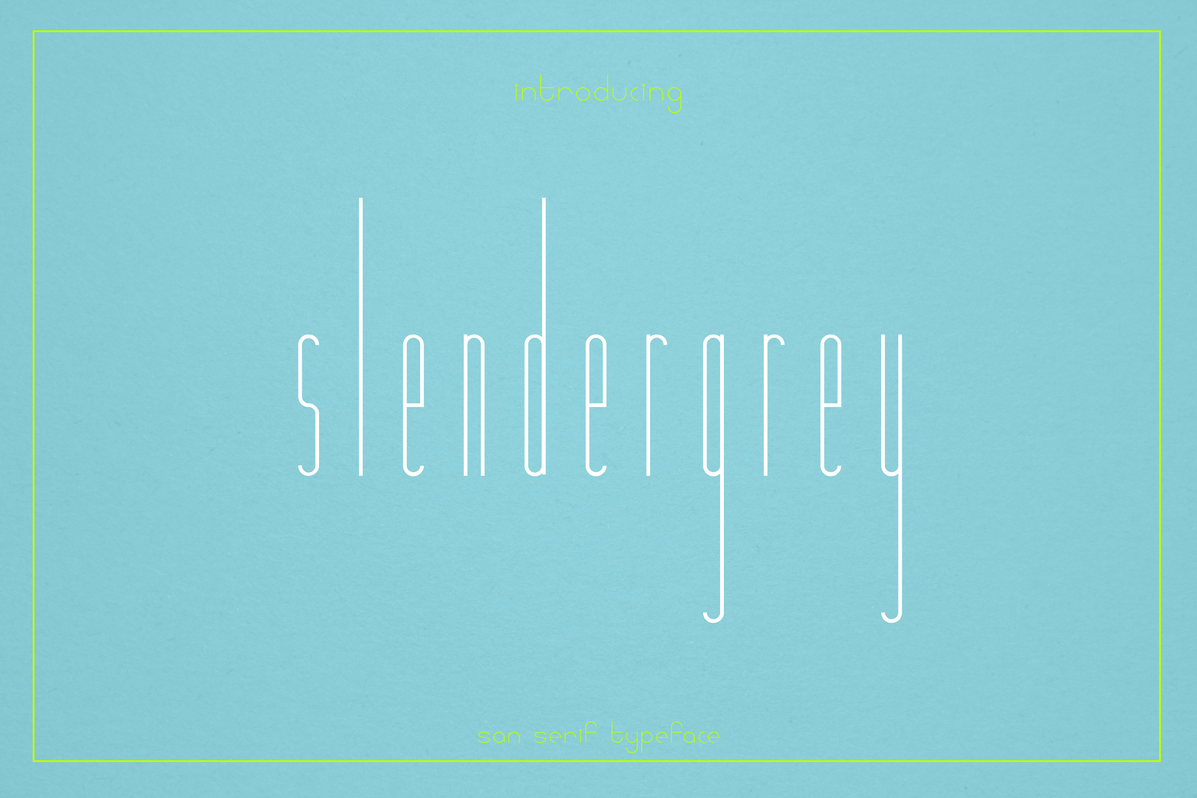 Print on Demand: Slendergrey Sans Serif Font By White Supply - Image 1