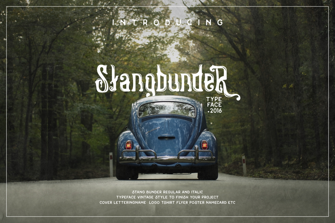 Print on Demand: Stangbunder Display Font By Runsell Graphic