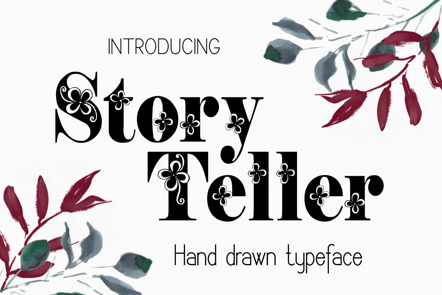 Print on Demand: Storyteller Decorative Font By Eva Barabasne Olasz - Image 2