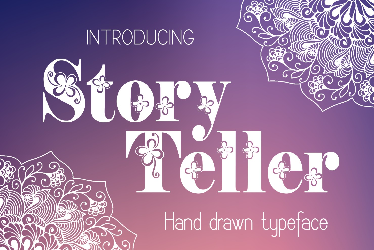 Print on Demand: Storyteller Decorative Font By Eva Barabasne Olasz - Image 4