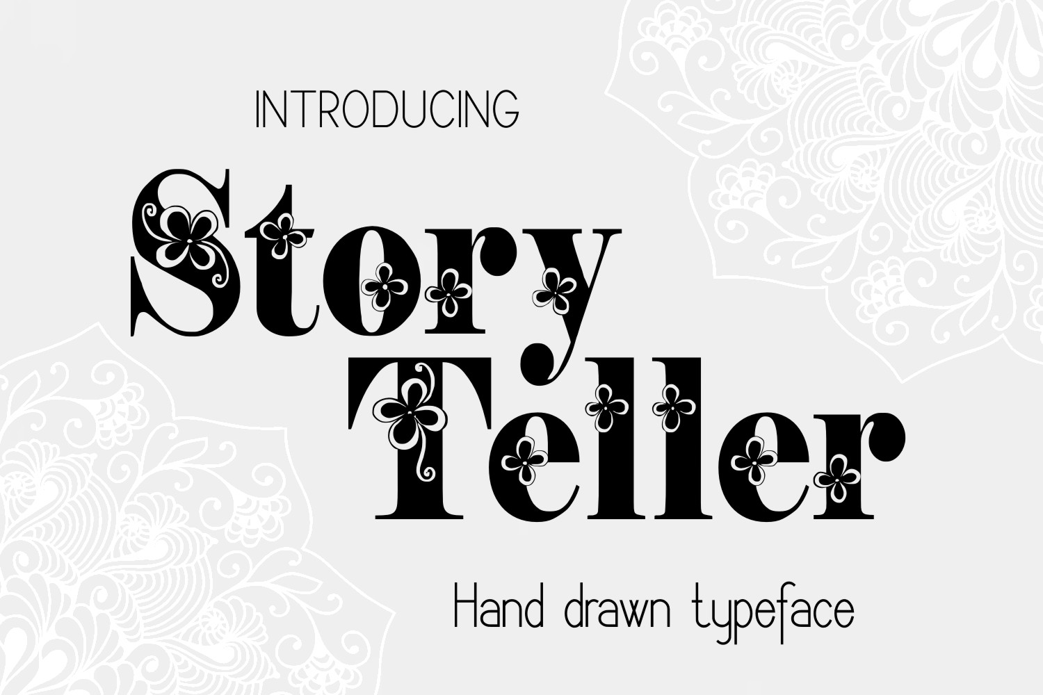 Print on Demand: Storyteller Decorative Font By Eva Barabasne Olasz - Image 5