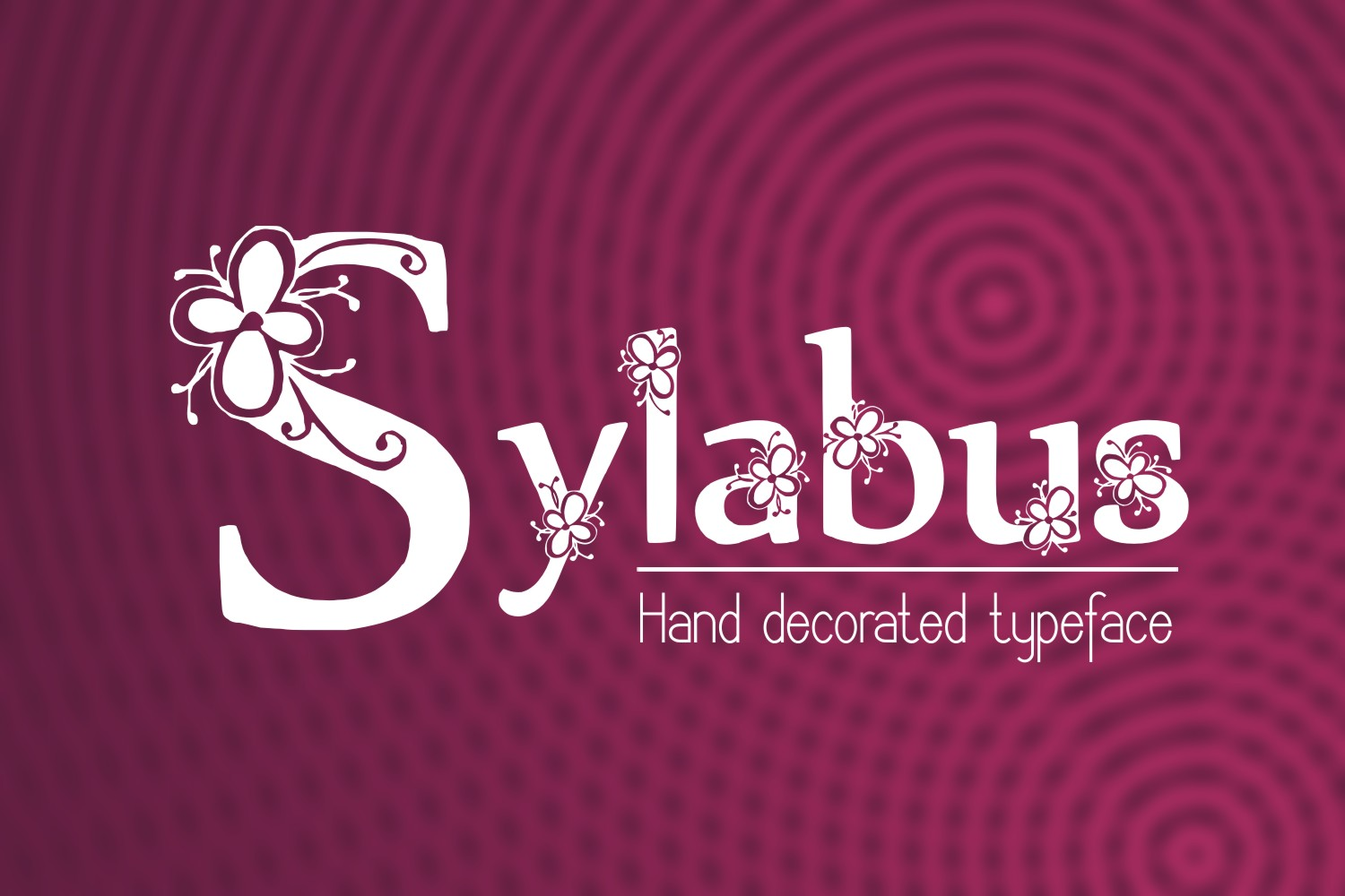 Print on Demand: Sylabus Decorative Font By Eva Barabasne Olasz