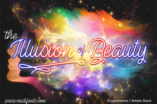 The Illusion of Beauty Font By Misti