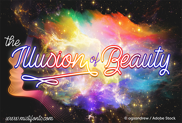 The Illusion of Beauty Script & Handwritten Font By Misti