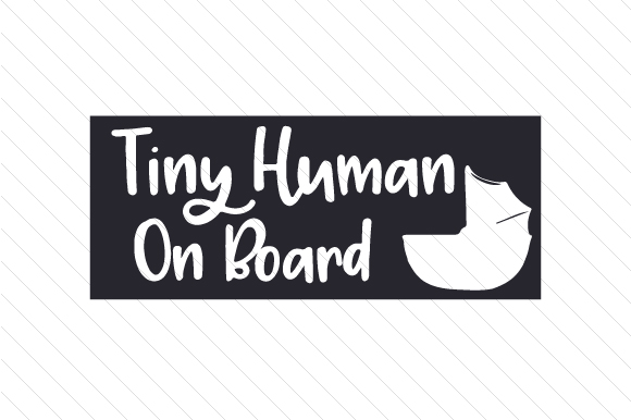 Tiny Human on Board Family Car Craft Cut File By Creative Fabrica Crafts - Image 2