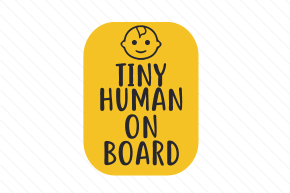 Tiny Human on Board Family Car Craft Cut File By Creative Fabrica Crafts