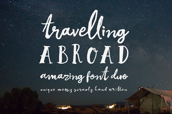 Print on Demand: Travelling Abroad Script & Handwritten Font By Creativeqube Design