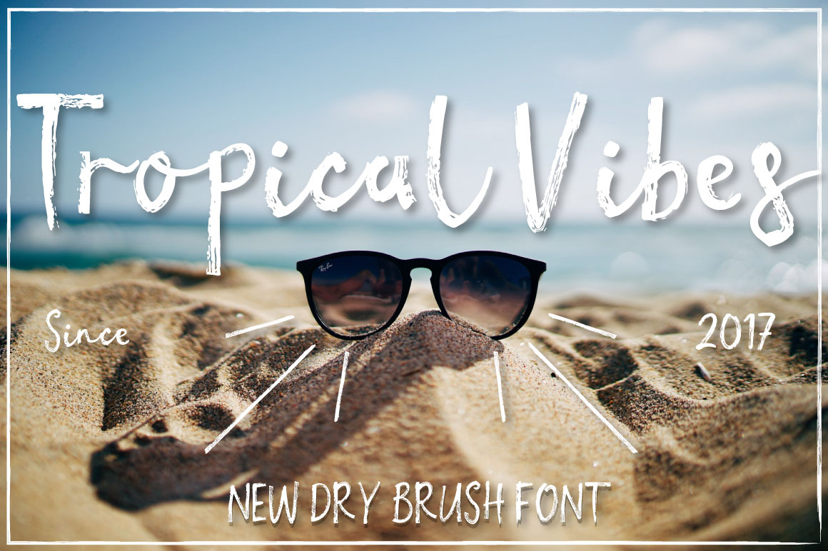 Print on Demand: Tropical Vibes Script & Handwritten Font By Latin Vibes