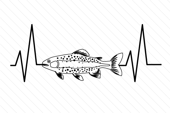 Download Free Trout Heartbeat Svg Cut File By Creative Fabrica Crafts for Cricut Explore, Silhouette and other cutting machines.