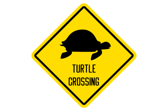 Download Free Turtle Crossing Sign Svg Cut File By Creative Fabrica Crafts for Cricut Explore, Silhouette and other cutting machines.