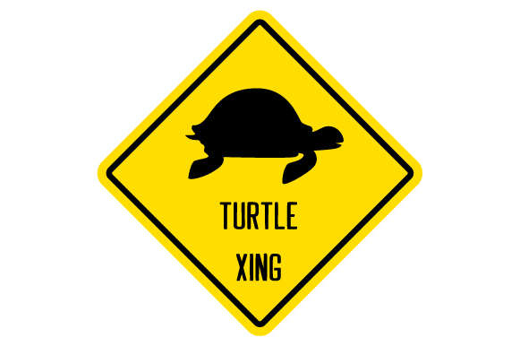 Turtle Xing Sign Designs & Drawings Craft Cut File By Creative Fabrica Crafts