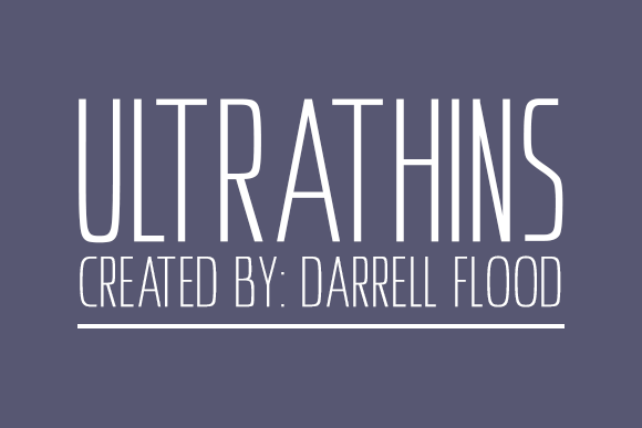 Ultrathins Sans Serif Font By Dadiomouse