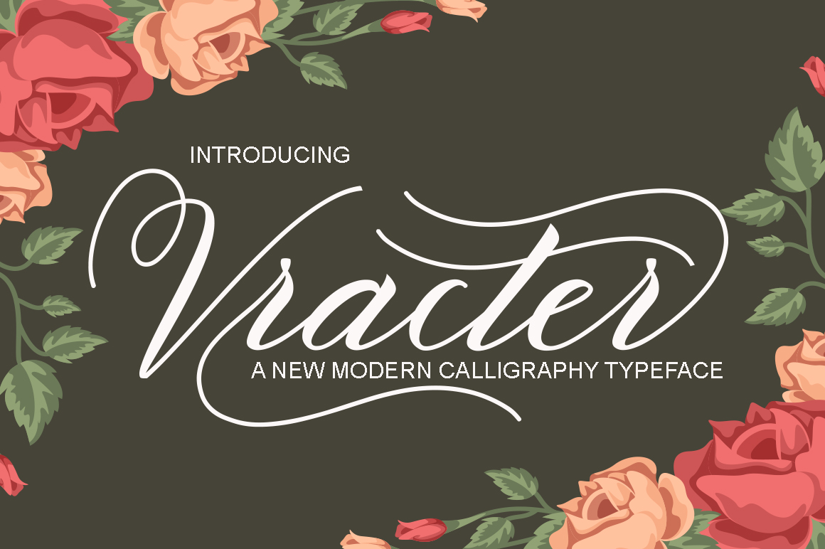 Print on Demand: Vracter Script & Handwritten Font By Polem
