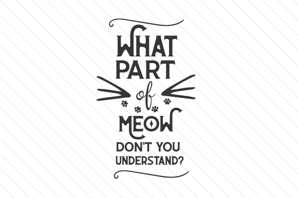 What Part of MEOW Don't You Understand Craft Design By Creative Fabrica Crafts