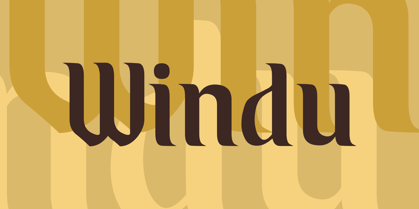 Print on Demand: Windu Display Font By Greenlines Studios - Image 1