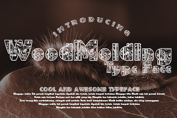 WoodMolding Decorative Font By Gblack Id