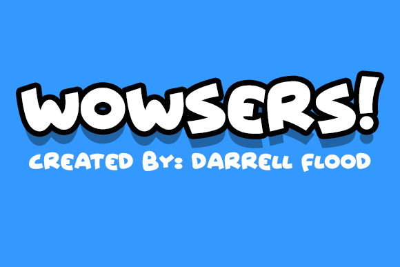 Print on Demand: Wowsers Script & Handwritten Font By Dadiomouse