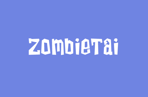 Print on Demand: ZombieTai Slab Serif Font By jeffbensch