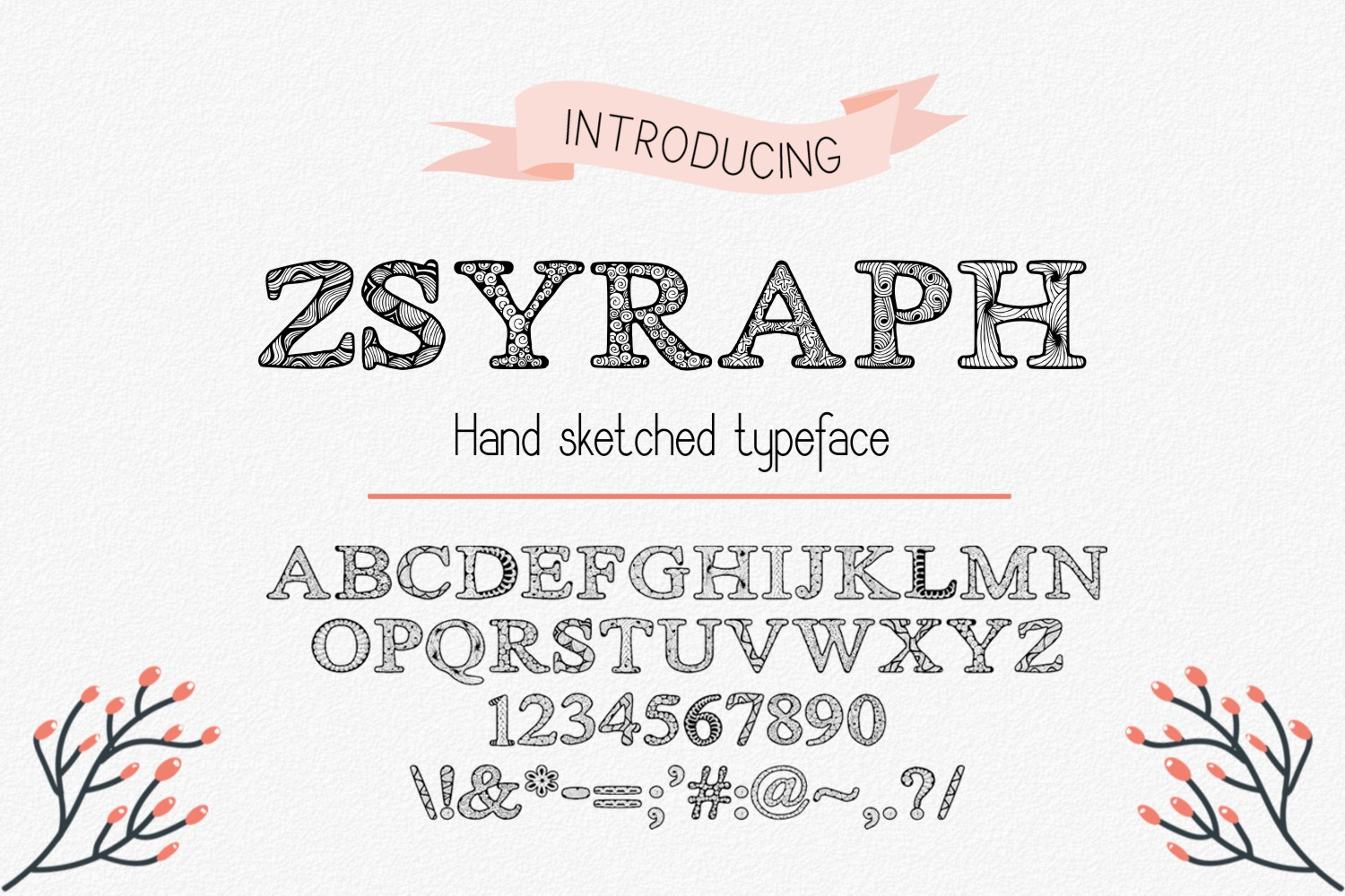 Print on Demand: Zsyraph Decorative Font By Eva Barabasne Olasz