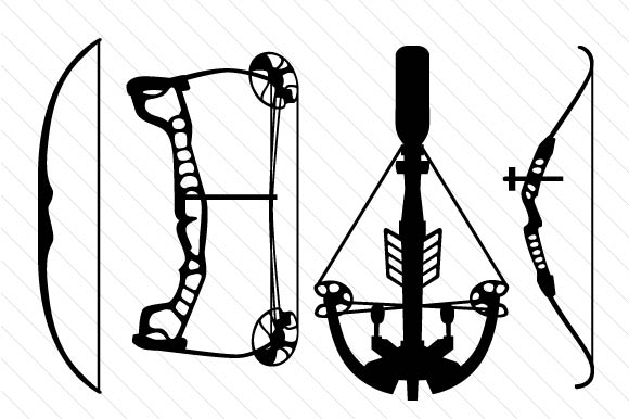 Download Free Set With Different Archery Bows Svg Cut File By Creative Fabrica for Cricut Explore, Silhouette and other cutting machines.