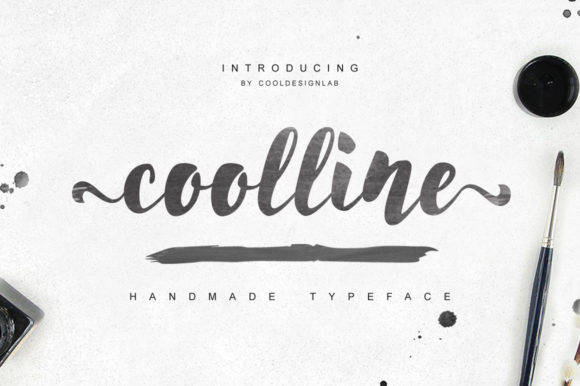 Print on Demand: Coolline Script & Handwritten Font By Cooldesignlab - Image 1