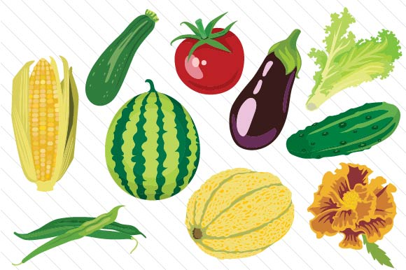 Garden Vegetables Set Nature & Outdoors Craft Cut File By Creative Fabrica Crafts - Image 2