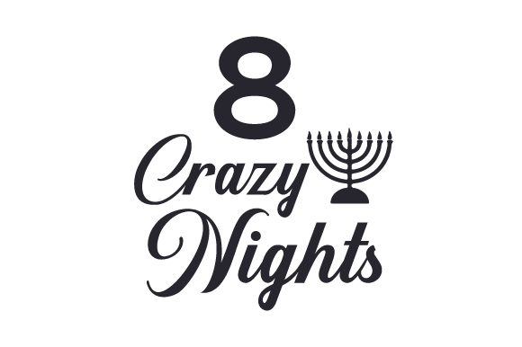 8 Crazy Nights Jewish Craft Cut File By Creative Fabrica Crafts - Image 2