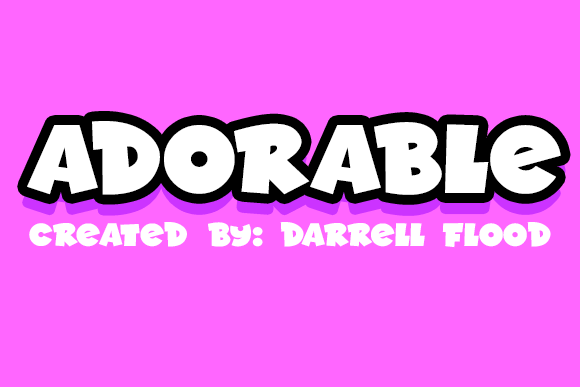 Print on Demand: Adorable Display Font By Dadiomouse