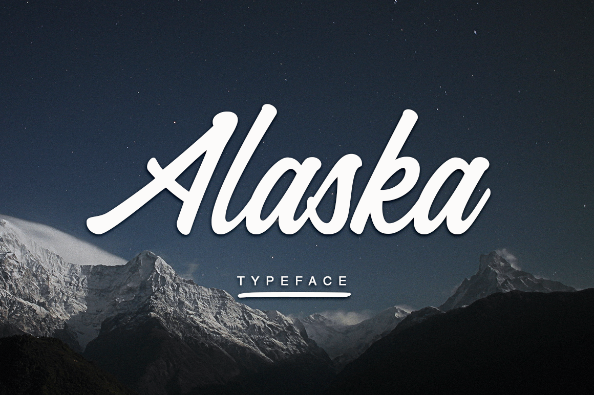 Print on Demand: Alaska Script & Handwritten Font By Pasha Larin