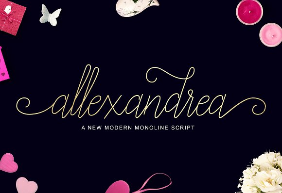 Print on Demand: Allexandrea Script & Handwritten Font By Unicode Studio