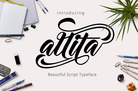 Print on Demand: Allita Script & Handwritten Font By Olexstudio