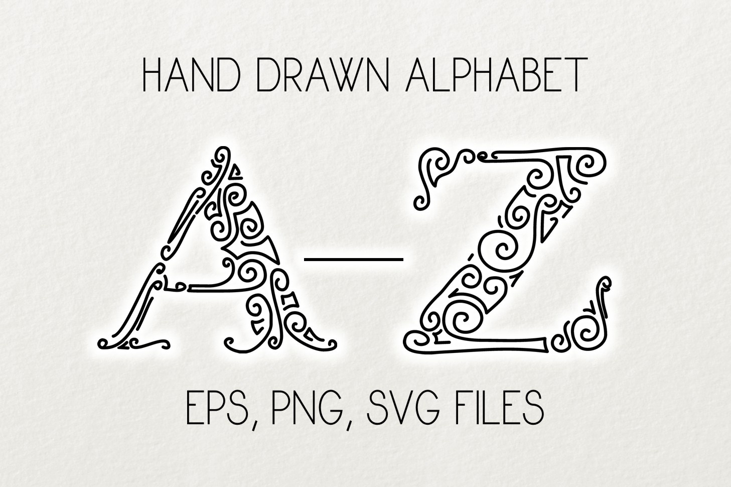 Alphabet Clipart and Vector Set Graphic Illustrations By Eva Barabasne Olasz