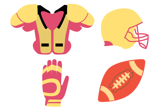 American Football Girls Design Set Sports Craft Cut File By Creative Fabrica Crafts
