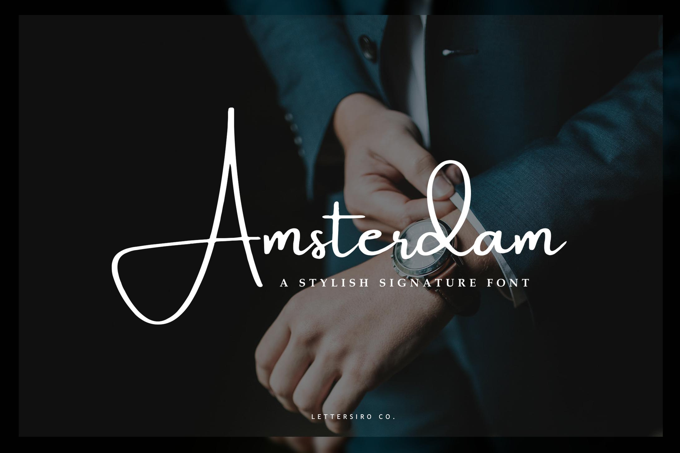 Print on Demand: Amsterdam Script & Handwritten Font By Lettersiro Co.