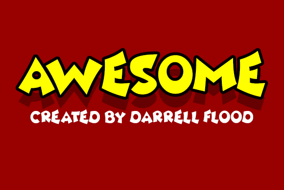 Print on Demand: Awesome Display Font By Dadiomouse