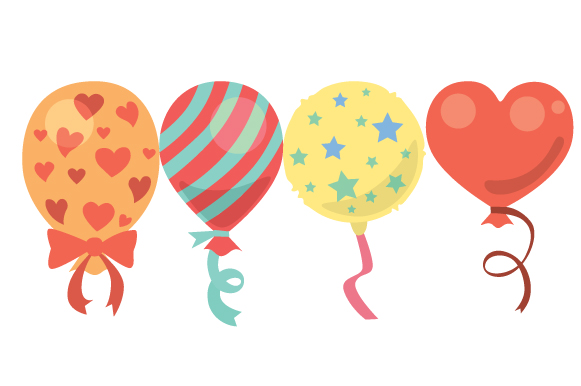 Download Free Baloons Design Set Svg Cut File By Creative Fabrica Crafts for Cricut Explore, Silhouette and other cutting machines.