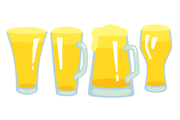 Beer Glasses Design Set Designs & Drawings Craft Cut File By Creative Fabrica Crafts