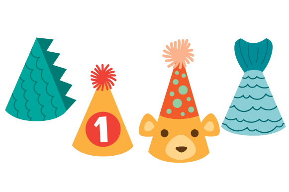 Birthday Party Hats Design Set Designs & Drawings Craft Cut File By Creative Fabrica Crafts