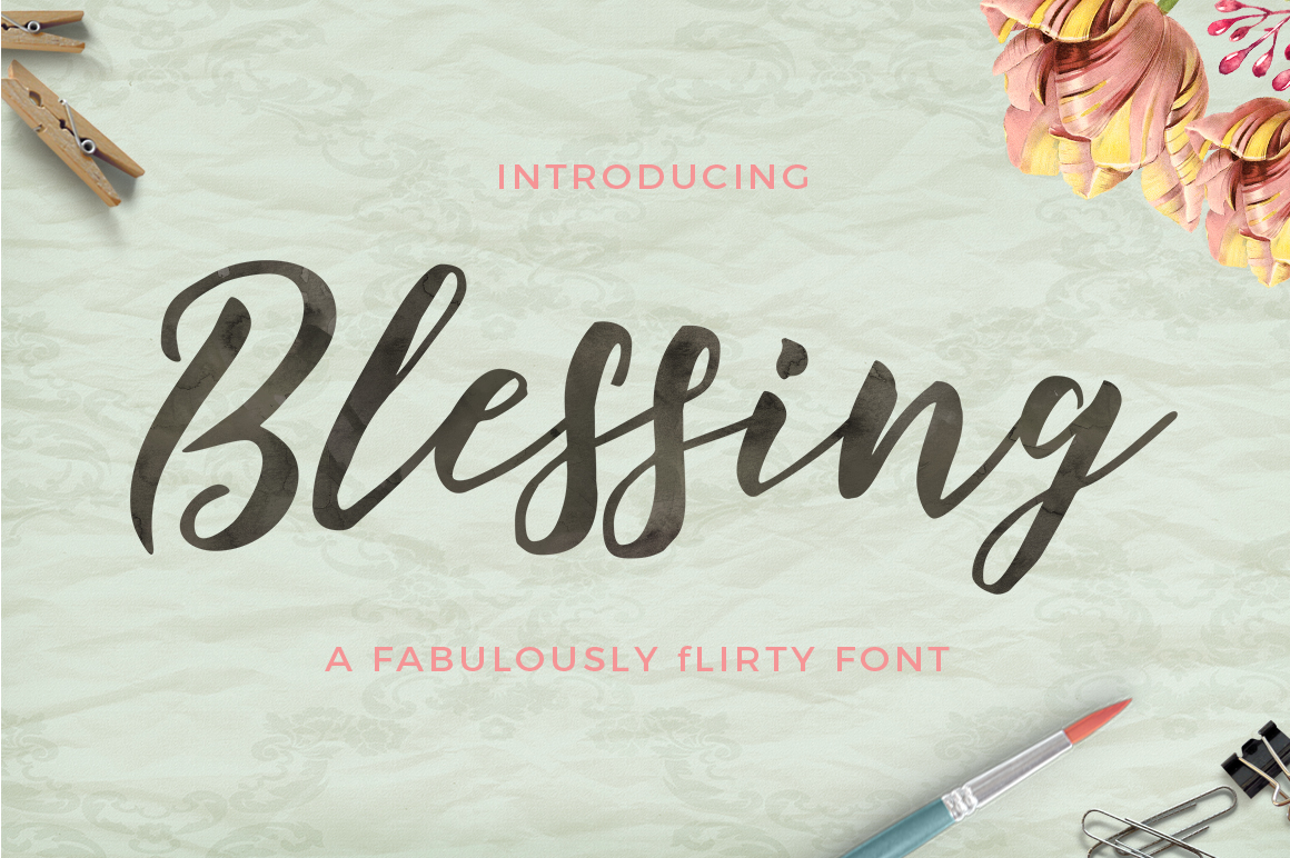 Print on Demand: Blessing Script & Handwritten Font By Great Studio