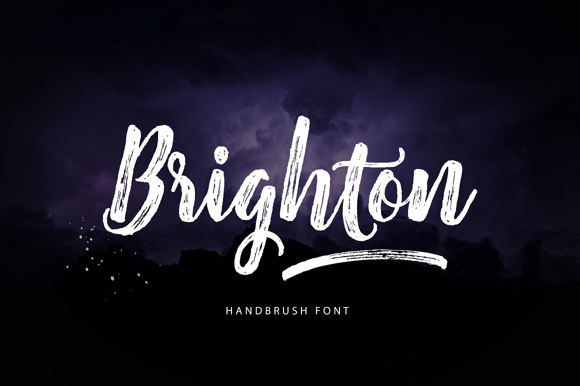 Print on Demand: Brighton Script & Handwritten Font By Unicode Studio