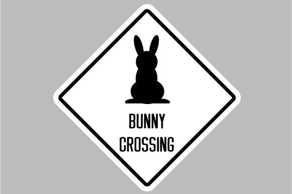Bunny Crossing Sign Designs & Drawings Craft Cut File By Creative Fabrica Crafts