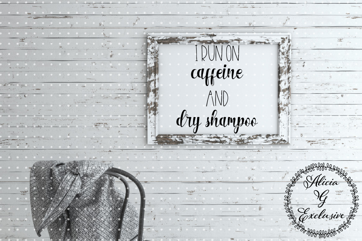 Download Free Caffeine And Dry Shampoo Graphic By Alicia G Exclusive for Cricut Explore, Silhouette and other cutting machines.