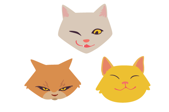 Download Free Cat Expressions Design Set Svg Cut File By Creative Fabrica for Cricut Explore, Silhouette and other cutting machines.