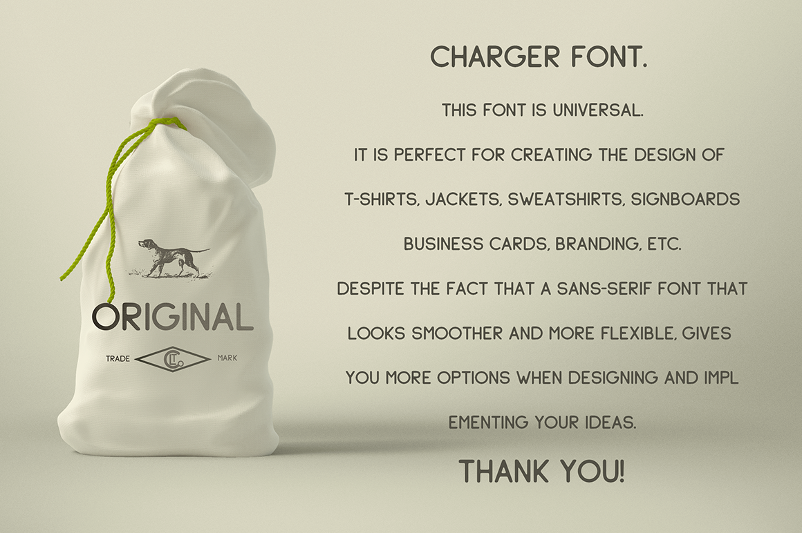 Print on Demand: Charger Sans Serif Font By Pasha Larin - Image 3