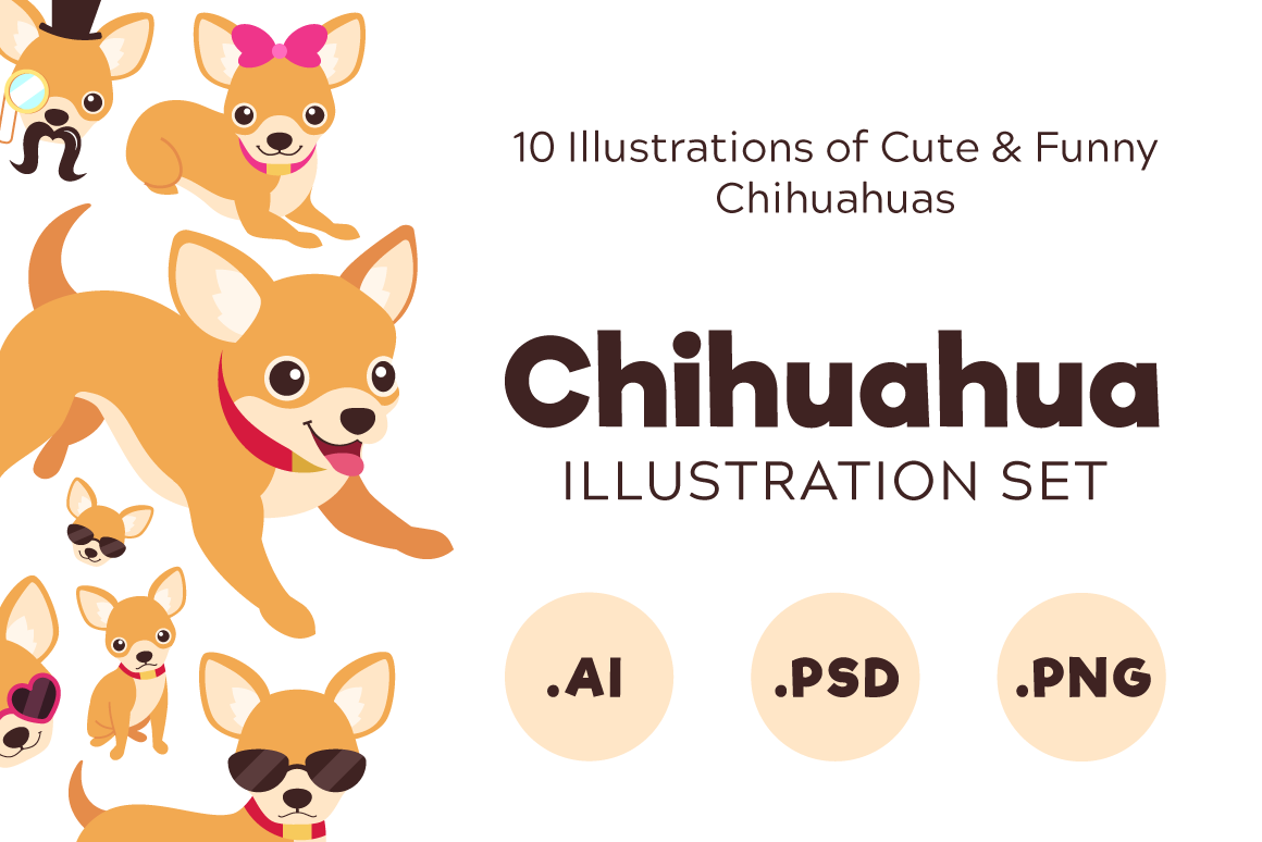 Chihuahua Set Graphic Illustrations By The Stock Croc
