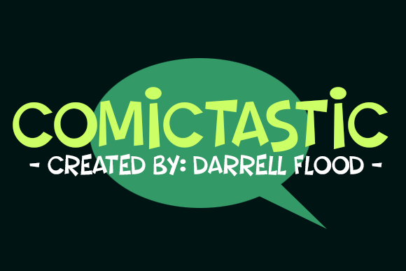 Print on Demand: Comictastic Display Font By Dadiomouse