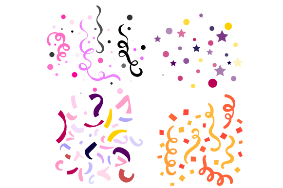 Confetti Design Set Cut File